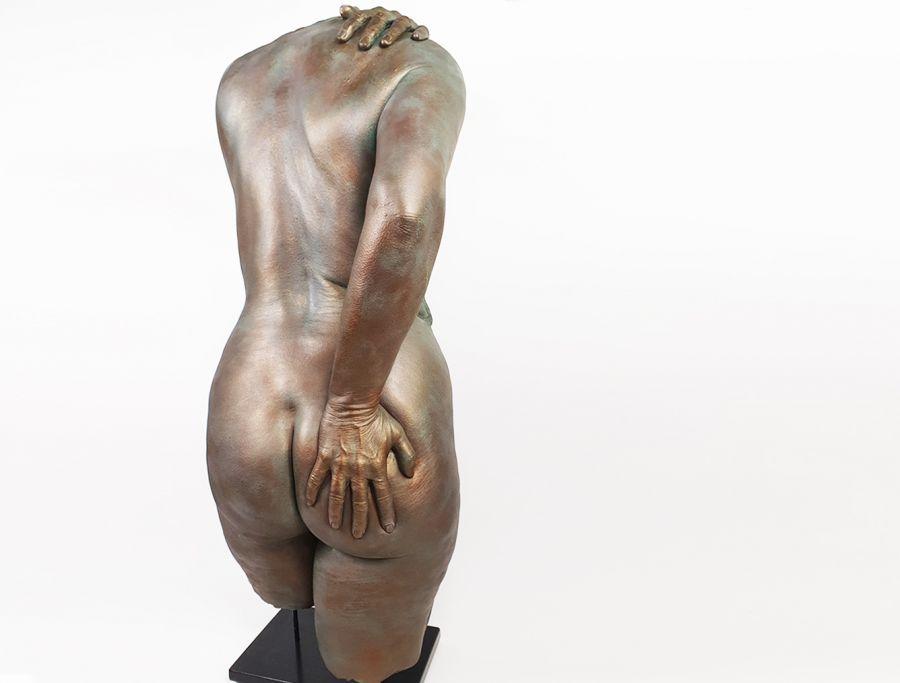 Bodycasting, lifecasting, billen beeld, afdruk bil, bil afdruk, kont in beeld, afdruk gips billen, 3d billen, bottum sculpture 5