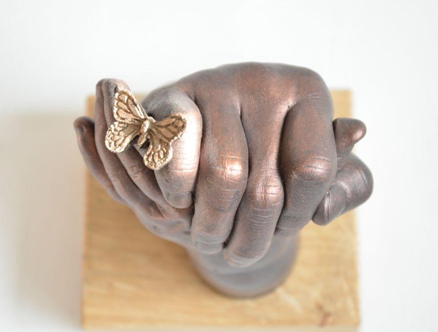 Bodycasting Vlindertjes, overleden kindje, ziekte, overlijden vastleggen, vereeuwigen beeld, kunstwerk 3D, tastbaar herinneringsbeeld 4.jpg