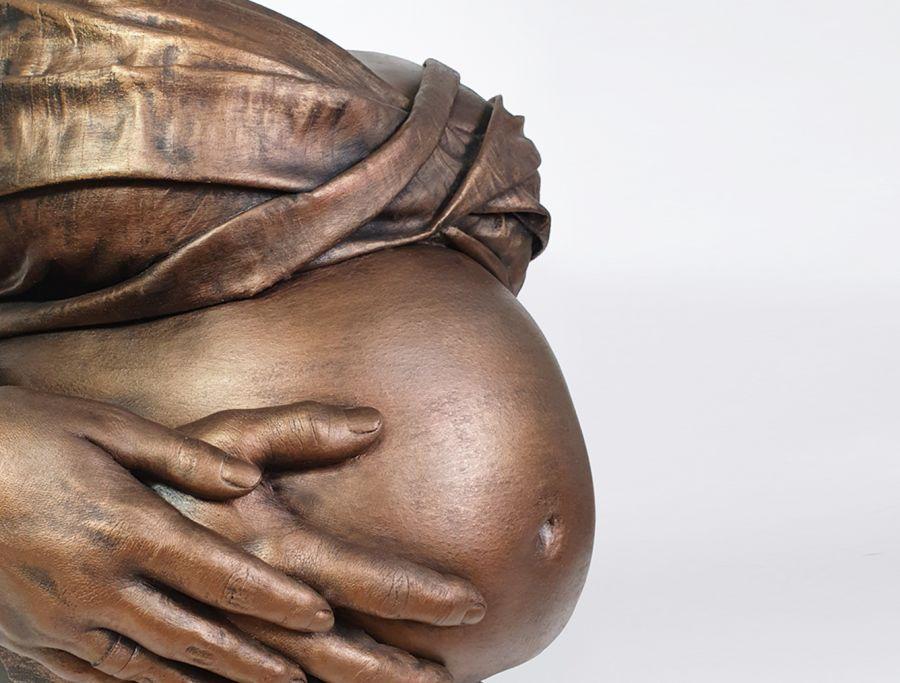 Bodycasting, lifecasting, zwanger beeld, kunst, gipsafdruk, zwangershap kunstwerk buik, 3D sculptuur zwangere buik9 .jpg